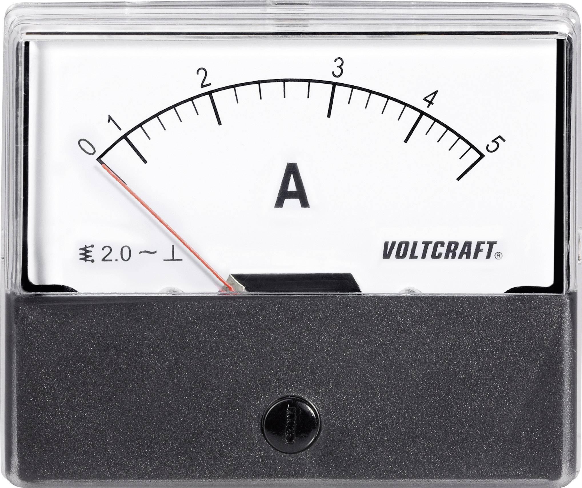 Panelové meradlo Voltcraft AM-70x60, 5 A