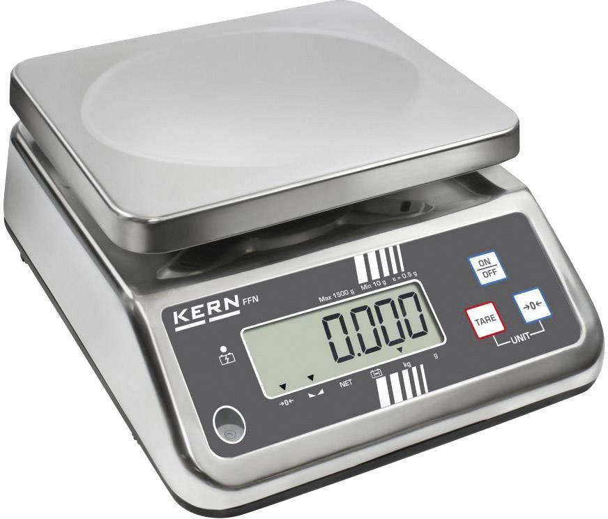 Stolní váha Kern Max. váživost 25 kg Rozlišení 5 g 230 V, napájeno akumulátorem stříbrná