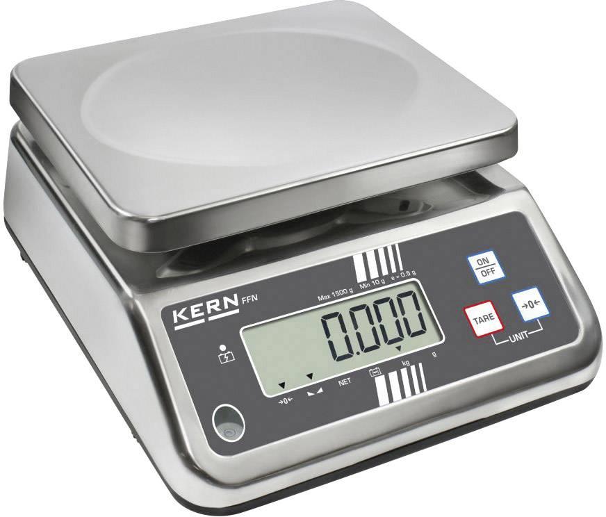 Stolní váha Kern FFN 6K1IPN, rozlišení 1 g, max. váživost 6 kg, Kalibrováno dle ISO