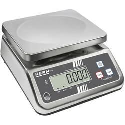Stolní váha Kern Max. váživost 6 kg Rozlišení 1 g 230 V, napájeno akumulátorem stříbrná