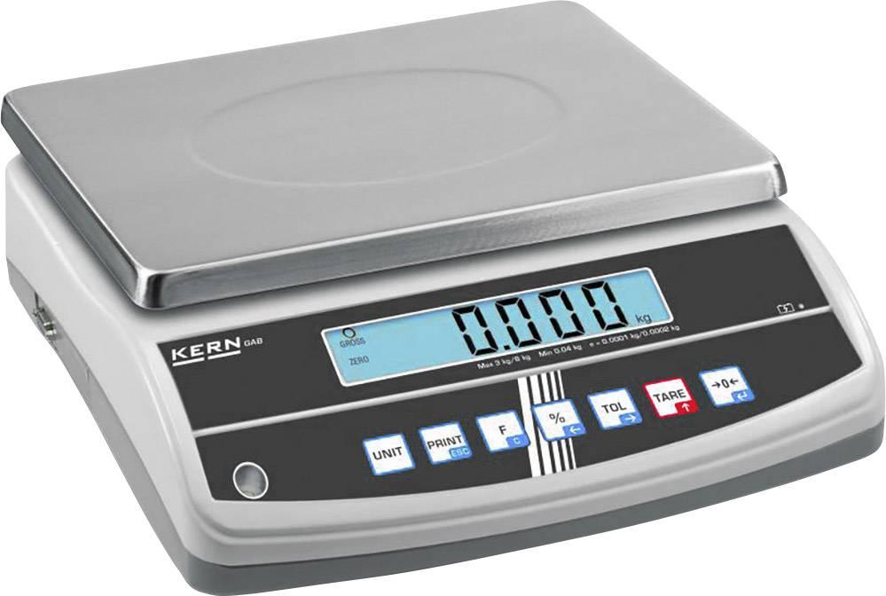Stolní váha Kern Max. váživost 12 kg Rozlišení 0.1 g stříbrná Kalibrováno dle ISO