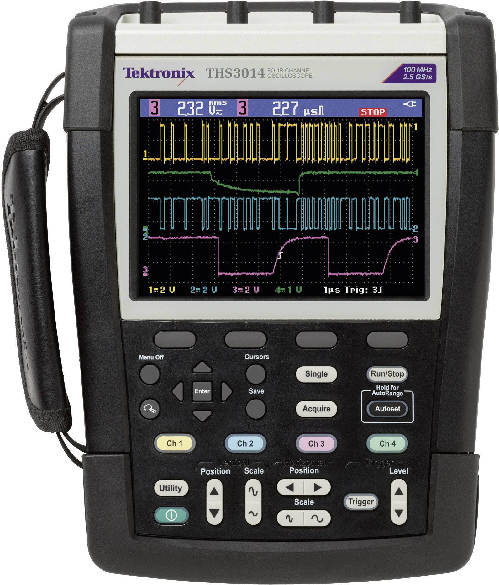 Ručný osciloskop Tektronix THS3014, 100 MHz, 4-kanálový