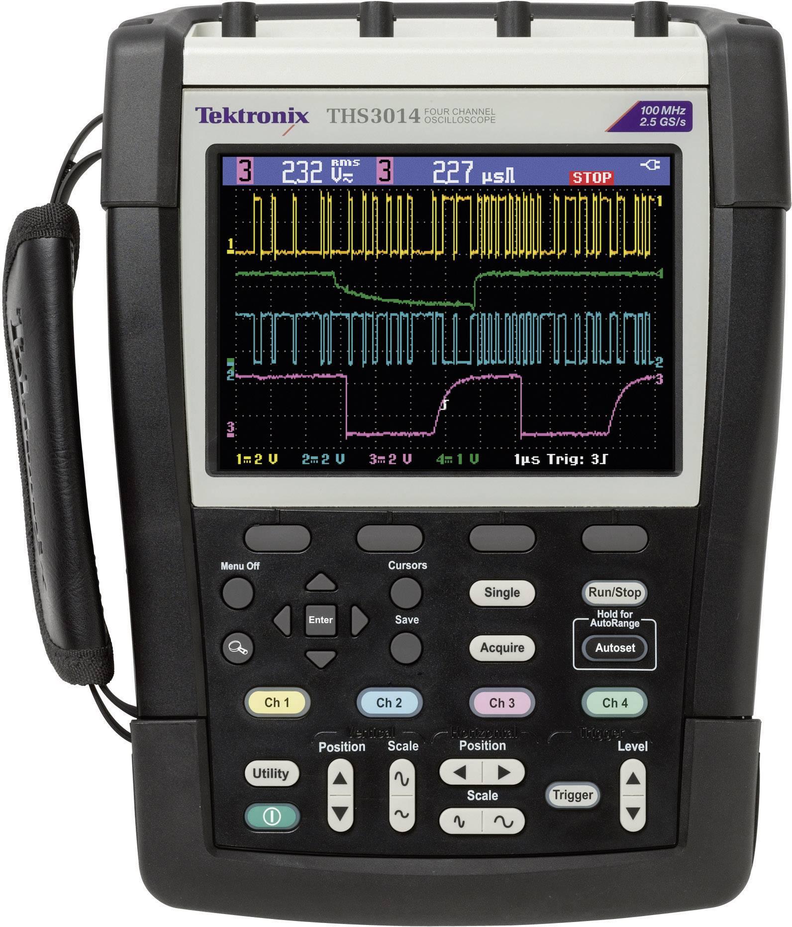Ručný osciloskop Tektronix THS3024, 200 MHz, 4-kanálový