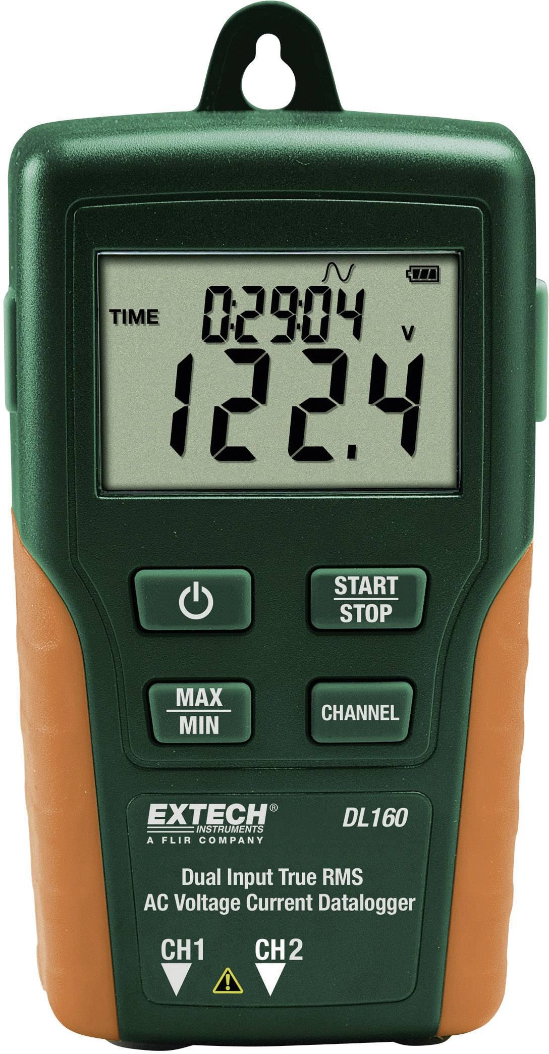 True RMS Duální datalogger pro měření AC proudu a napětí Extech DL160 V/AC - A/AC