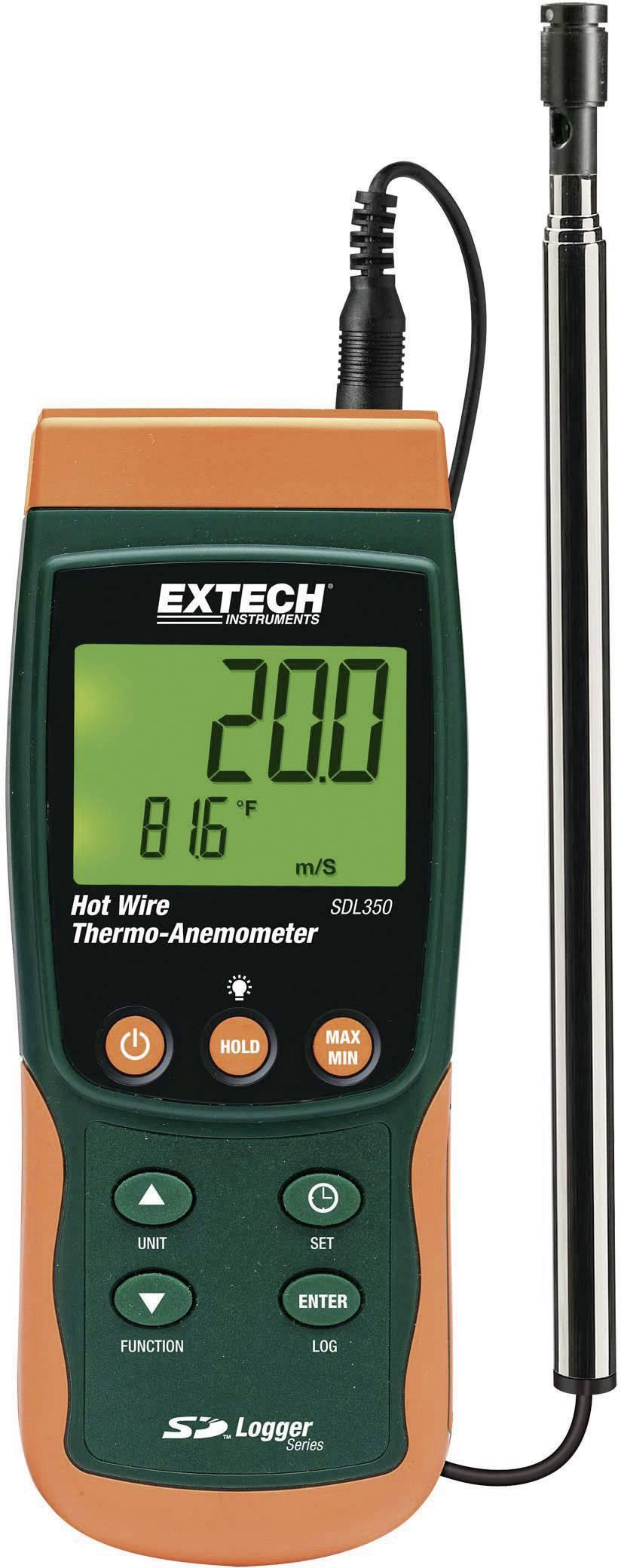 Anemometr Extech SDL350, 0,2 - 25 m/s