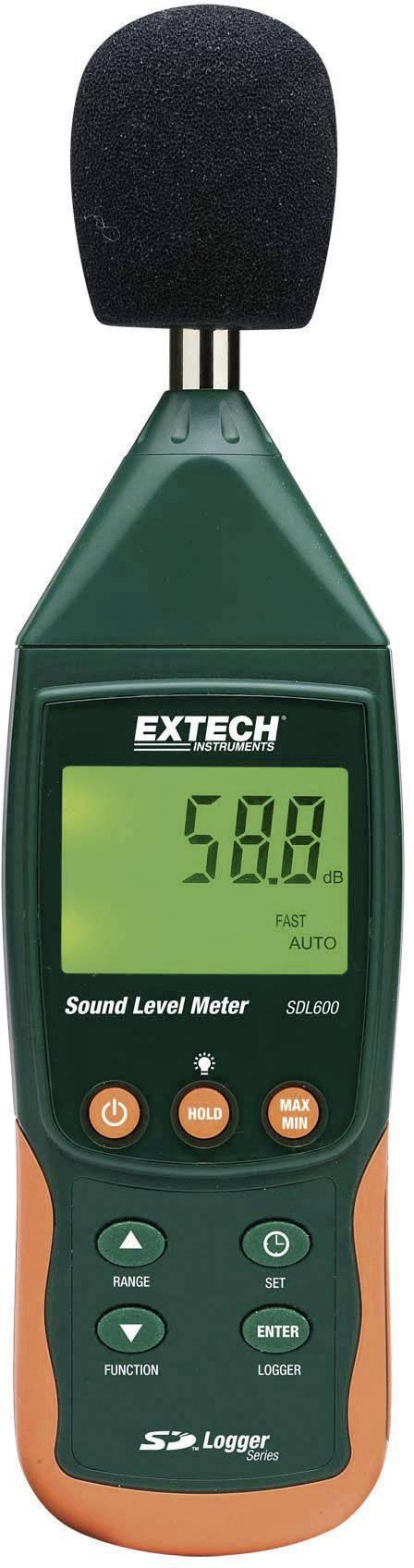 Digitálny hlukomer so záznamom na SD kartu Extech SDL600