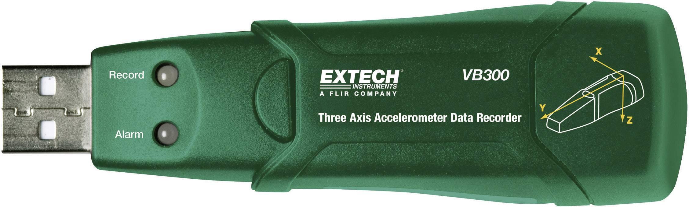 Akcelerometer s dataloggerom pre 3 osi Extech VB300