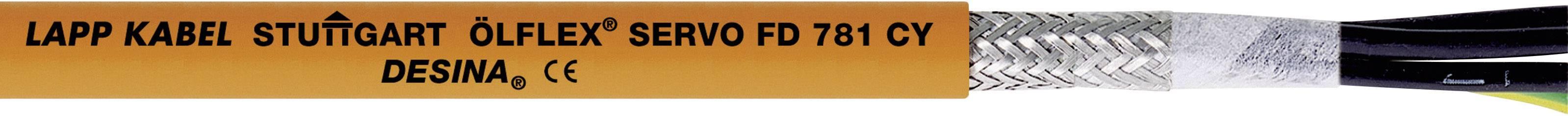Kabel LappKabel Ölflex SERVO FD 781 CY 4G2,5 (0036321), 11,9 mm, oranžová, 1000 m