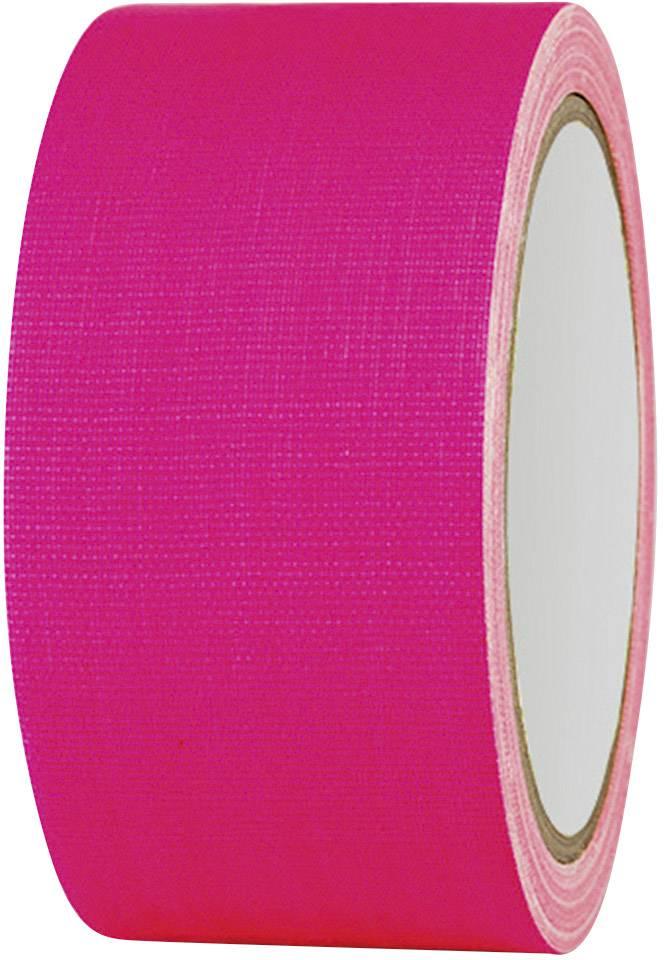 Páska so skleným vláknom TOOLCRAFT 80FL5025PC 80FL5025PC, (d x š) 25 m x 50 mm, neónovo ružová, 1 roliek