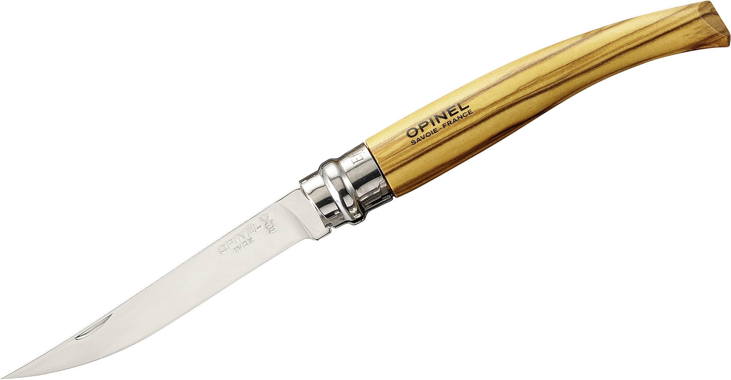 Kapesní nůž Opinel Slim-Line 10 254095, dřevo, chrom