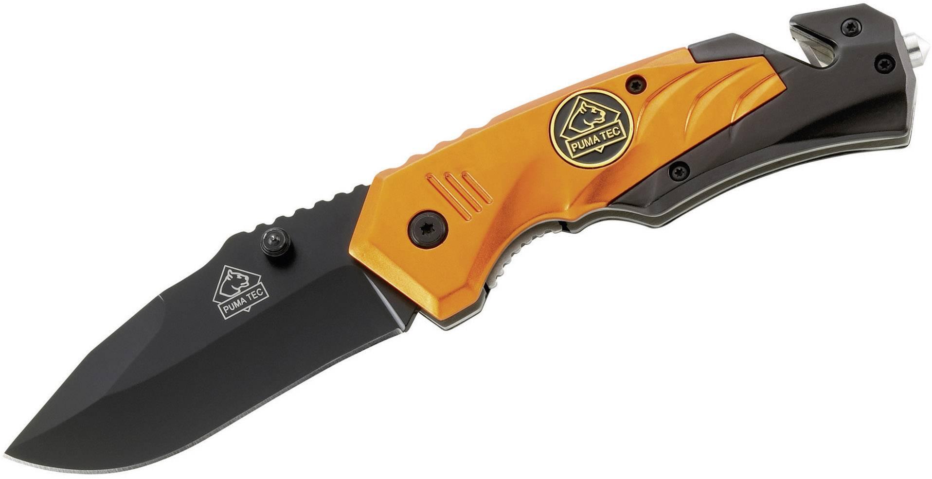 Záchranářský nůž Drop Point, černá PumaTec TEC Drop Point černá, oranžová