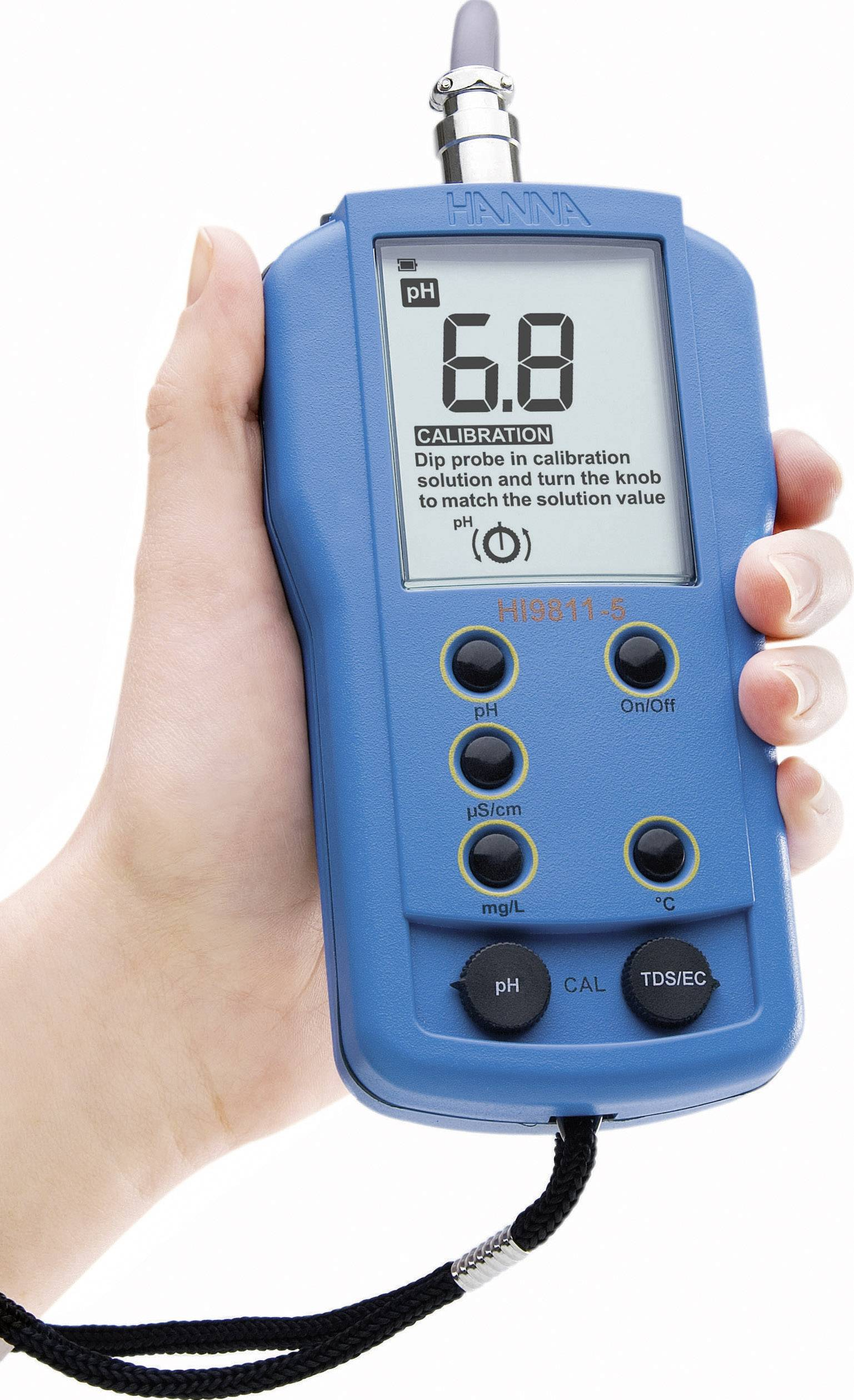 Kombinovaný měřič elektrickévodivosti Hanna Instruments HI 9811-5