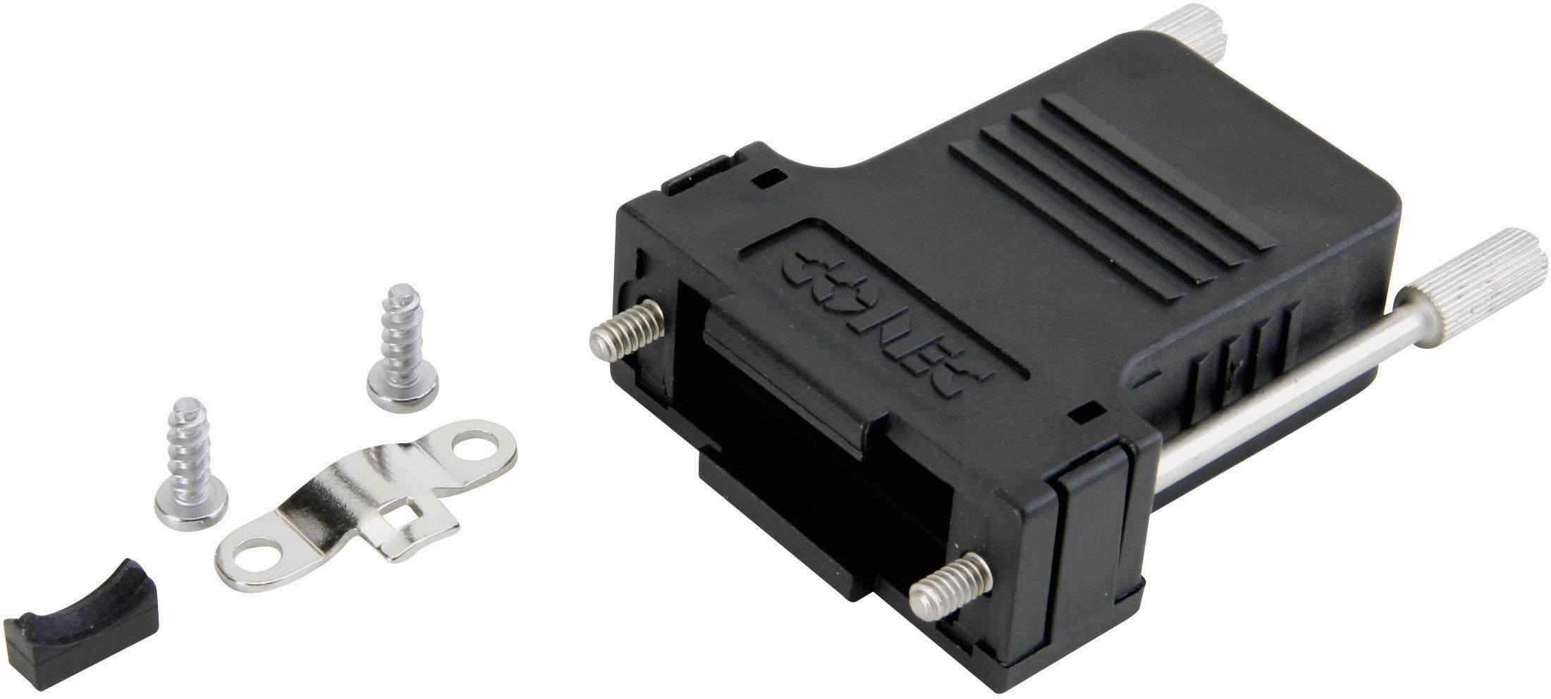 D-SUB pouzdro Conec 165X13369XE, 9 pólů, úhel připojení 180°, plast, černá, 1 ks