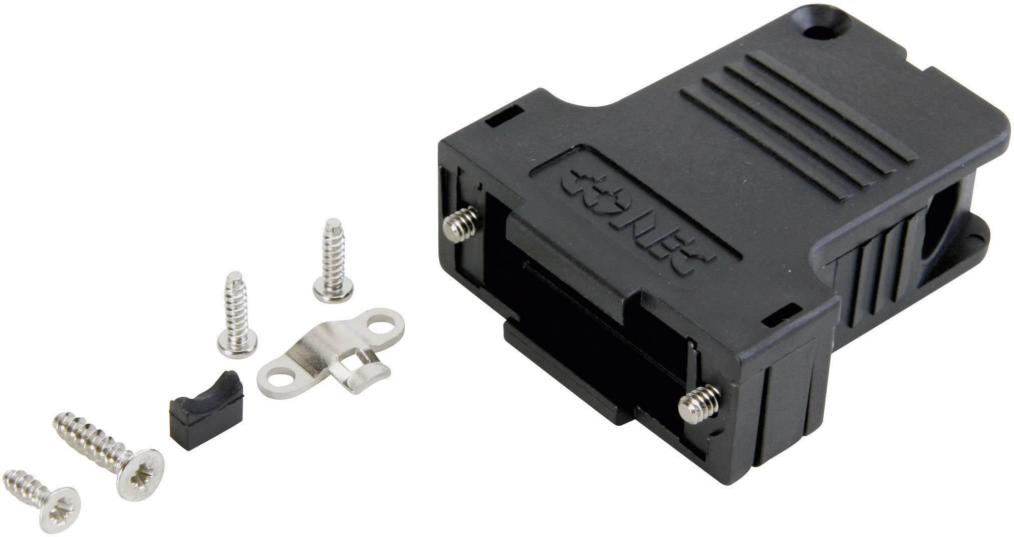 D-SUB púzdro Conec 165X13459XE, Počet pinov: 50, 45 °, plast, čierna, 1 ks