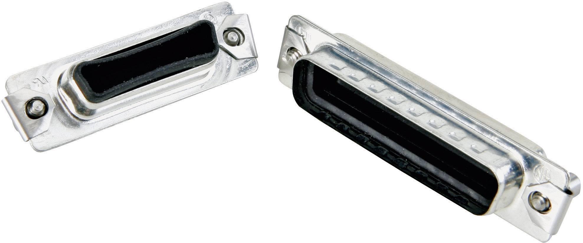 D-SUB krytka IP67 Conec 165X14729X, strieborná, 1 ks