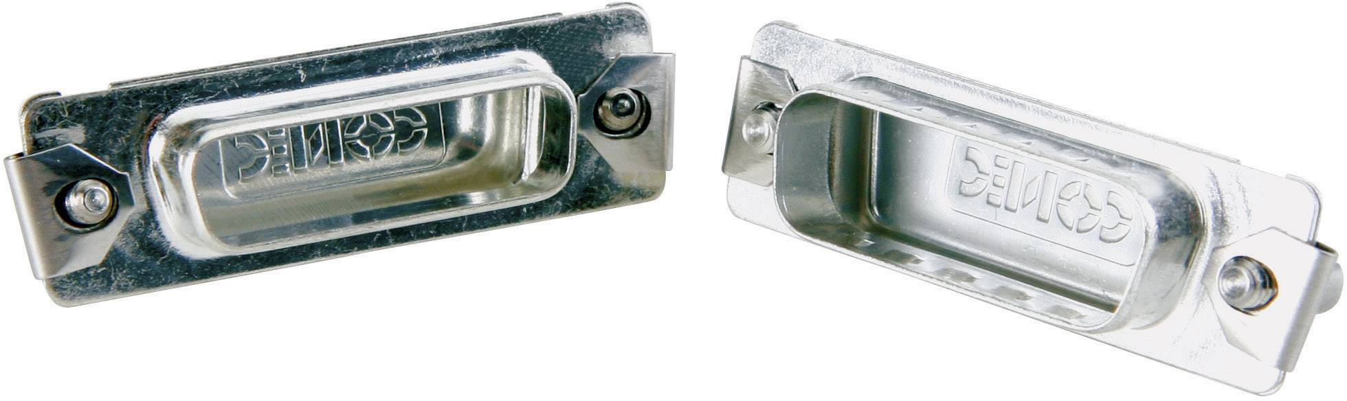 Záslepka D-SUB konektoru Conec 165X16749X pro 37pólovou D-SUB zásuvku, stříbrná, 1 ks