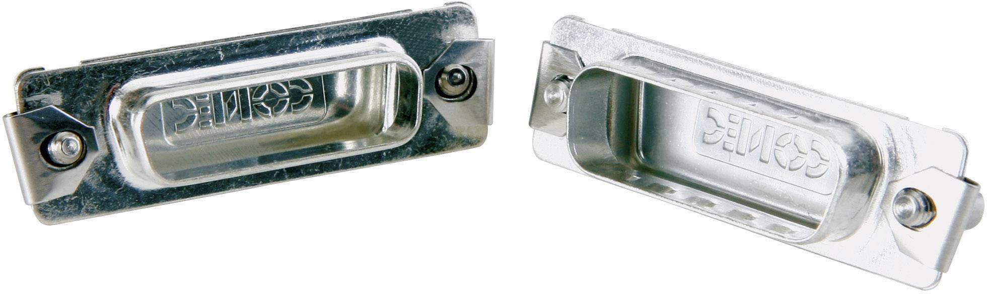Záslepka D-SUB konektoru Conec 165X16799X pro37pólovou kolíkovou D-SUB lištu, stříbrná, 1 ks