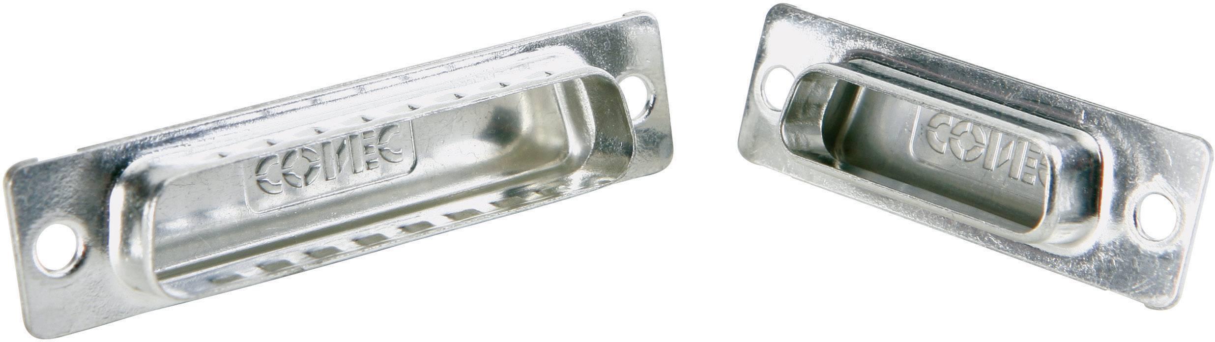 Záslepka D-SUB konektoru Conec 165X12999X pro 37pólovou D-SUB zásuvku, stříbrná, 1 ks