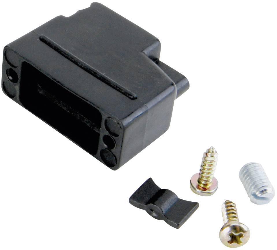 D-SUB púzdro Conec 165X10399XE 165X10399XE, Počet pinov: 15, plast, 180 °, čierna, 1 ks