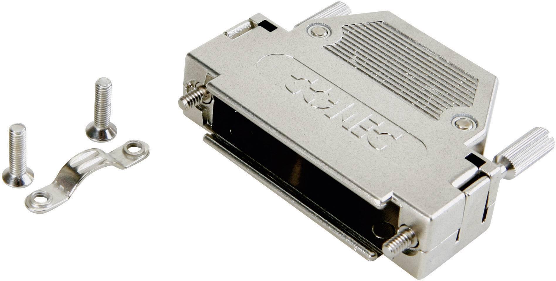D-SUB pouzdro Conec 165X10909XE 165X10909XE, pólů 9, plast, pokovený, 180 °, stříbrná, 1 ks