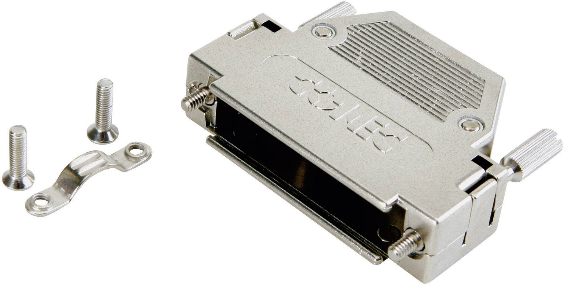D-SUB pouzdro Conec 165X10939XE 165X10939XE, pólů 37, plast, pokovený, 180 °, stříbrná, 1 ks