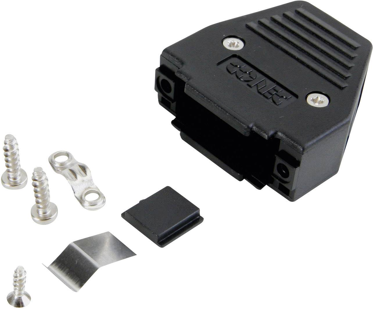 D-SUB pouzdro Conec 165X11319XE 165X11319XE, Pólů: 9, plast, 180 °, stříbrná, 1 ks