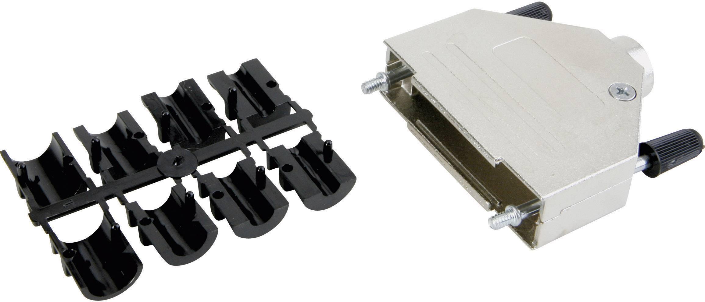 D-SUB pouzdro Conec 165X02689XE 165X02689XE, pólů 9, kov, 45 °, stříbrná, 1 ks