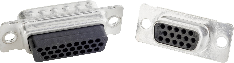 D-SUB kolíková lišta Conec 163X10169X, 180 °, pólů 15, krimpované, 1 ks