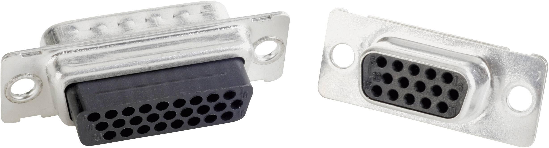 D-SUB zásuvková lišta Conec 164X11949X, 180 °, pólů 15, krimpované, 1 ks
