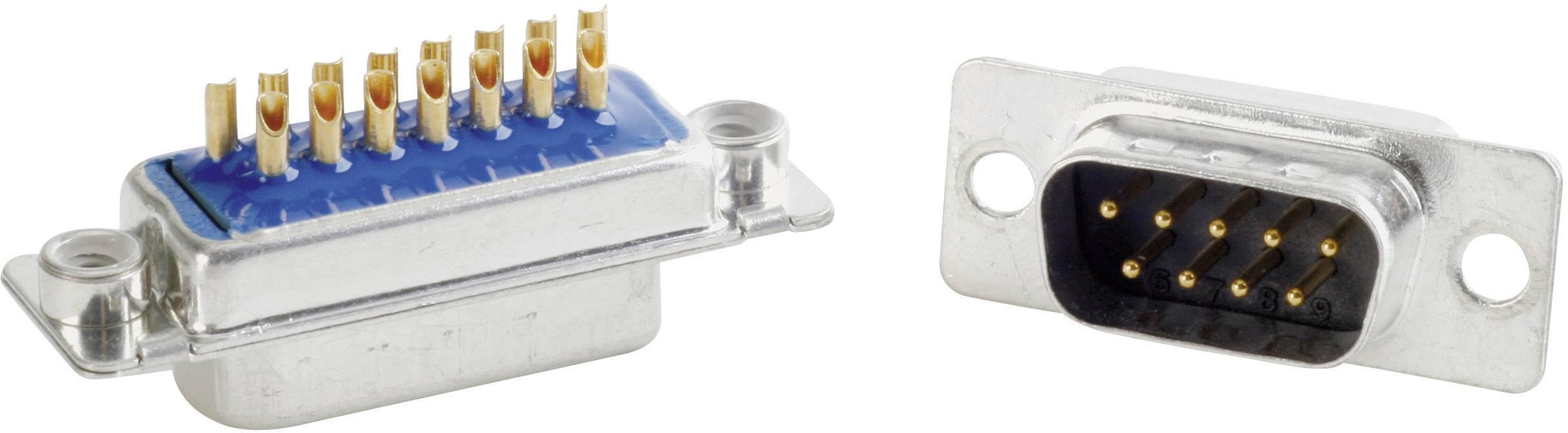 D-SUB filter Conec 242A27140X, 180 °, počet pinov 9, spájkovaný, 1 ks