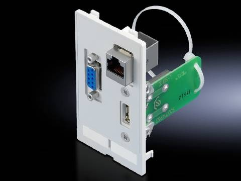 Klapka rozhraní Rittal SZ 2482.570, USB-A , RJ45, SUB-D 9 , litina, šedá grafit (RAL 7024), 1 ks