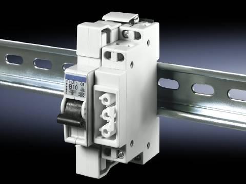 Základní prvek pouzdra na DIN lištu Rittal SZ 2507.500 s ochranným spínačem , 1 ks