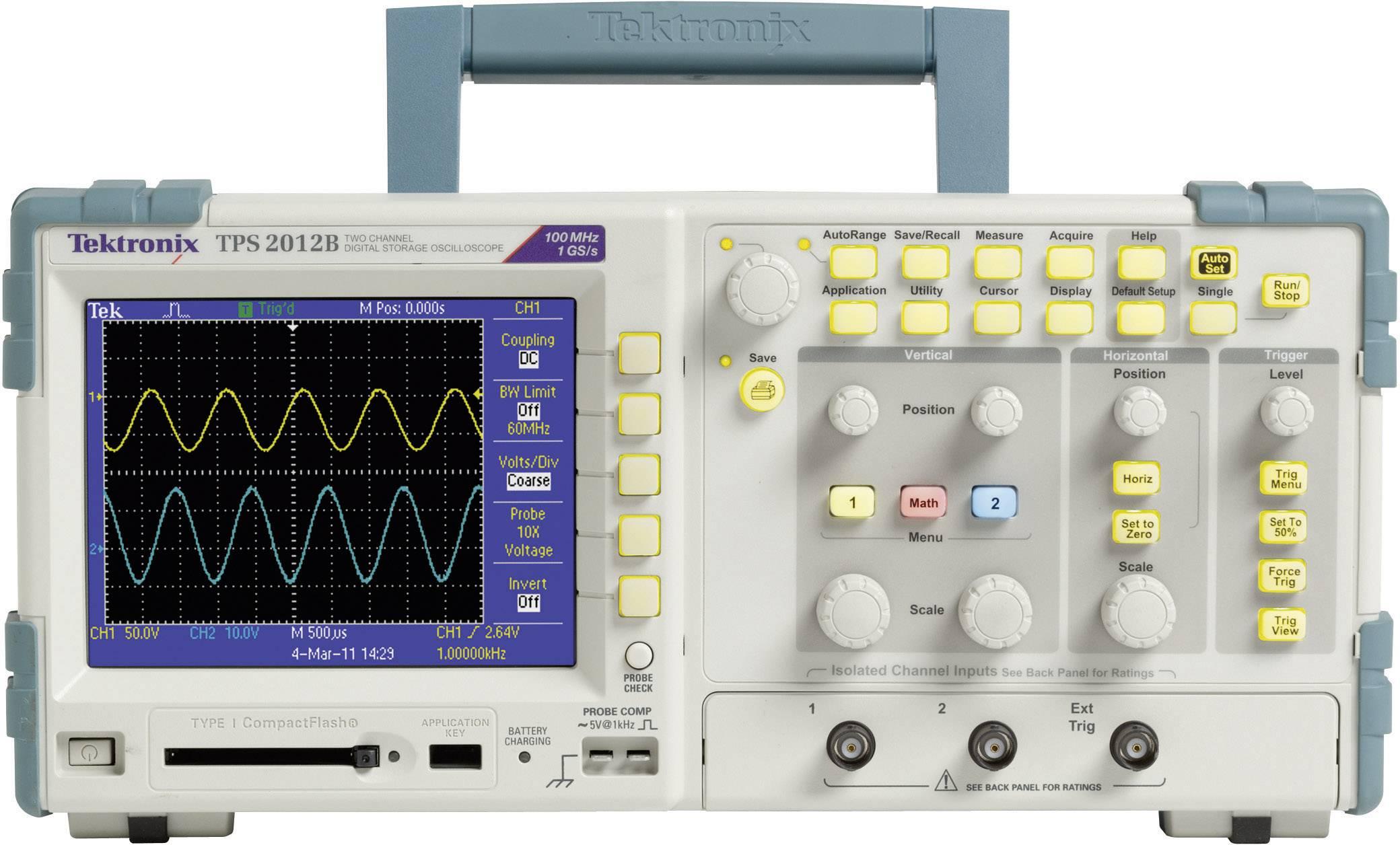 Digitálny osciloskop Tektronix TPS2012B, 100 MHz, 2-kanálový