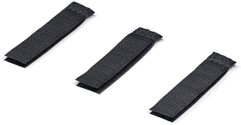 Lepiaci káblový manažér na suchý zips Rittal 7111.350 7111.350, (d x š) 70 mm x 16 mm, čierna, 10 ks