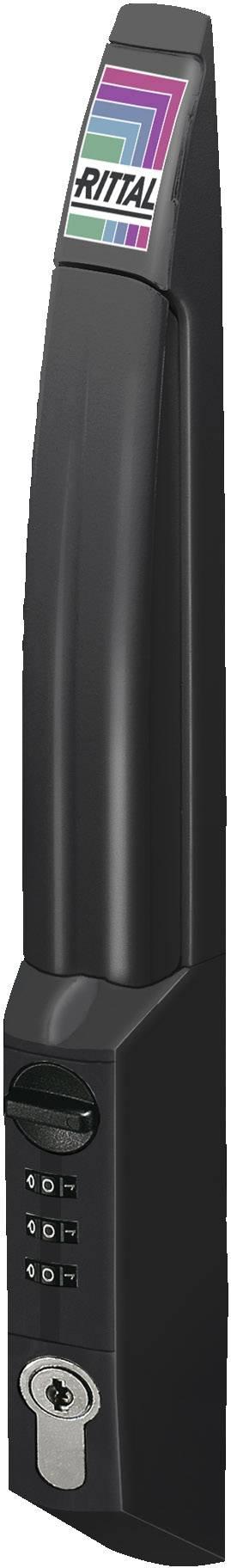 Bezpečnostní rukojeť Rittal DK 7200.801, s číselným kódem černá (RAL 9005), 1 ks