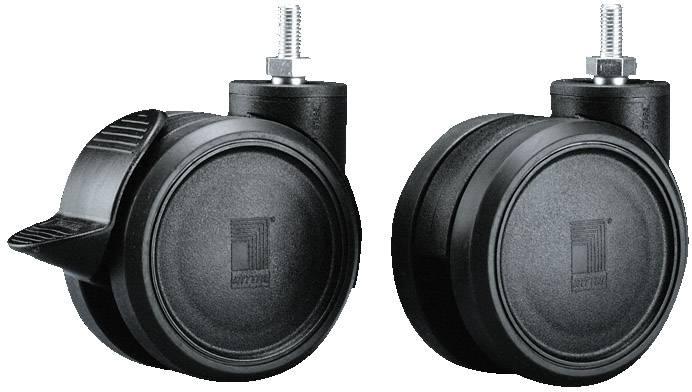 Dvojitá pojezdová kolečka Rittal DK 7495.000, 4 ks, černá, plast