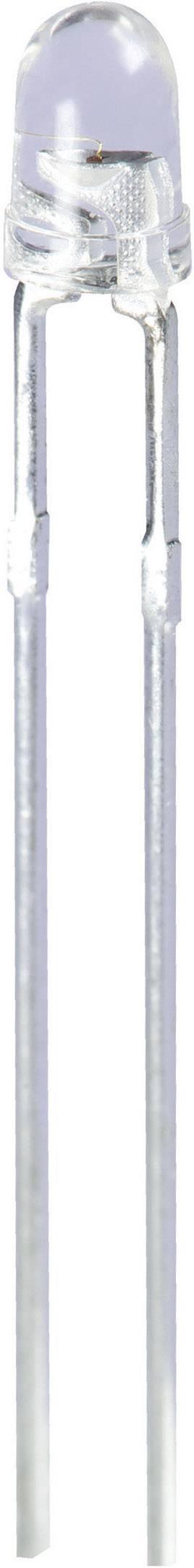 LEDsvývodmi Kingbright L-7104QBC-D, typ čočky guľatý, 3 mm, 20 °, 20 mA, 1600 mcd, 3.3 V, modrá