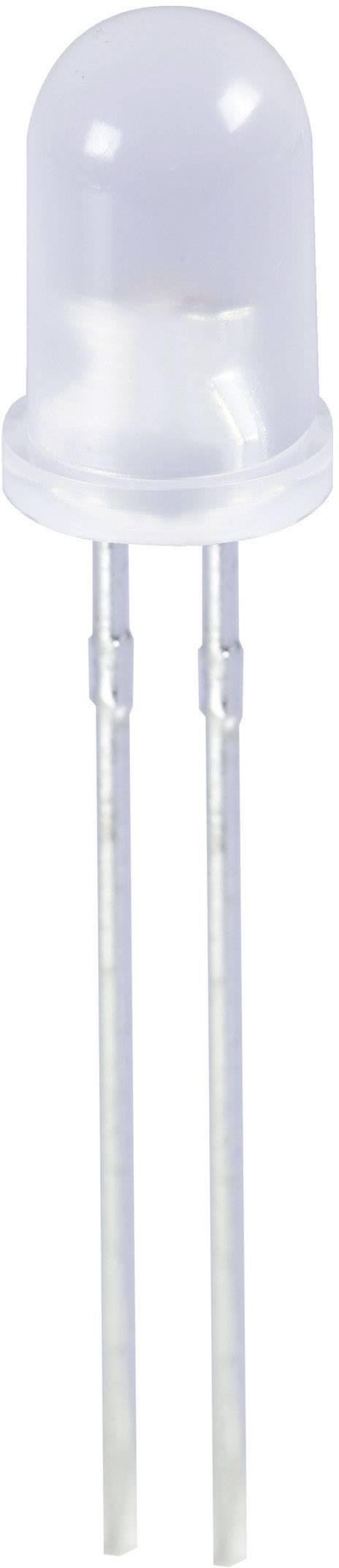 LED dioda kulatá s vývody Kingbright, L-57YYD, 20 mA, 5 mm, 2,1 V, 60 °, 12 mcd, žlutá/žlutá