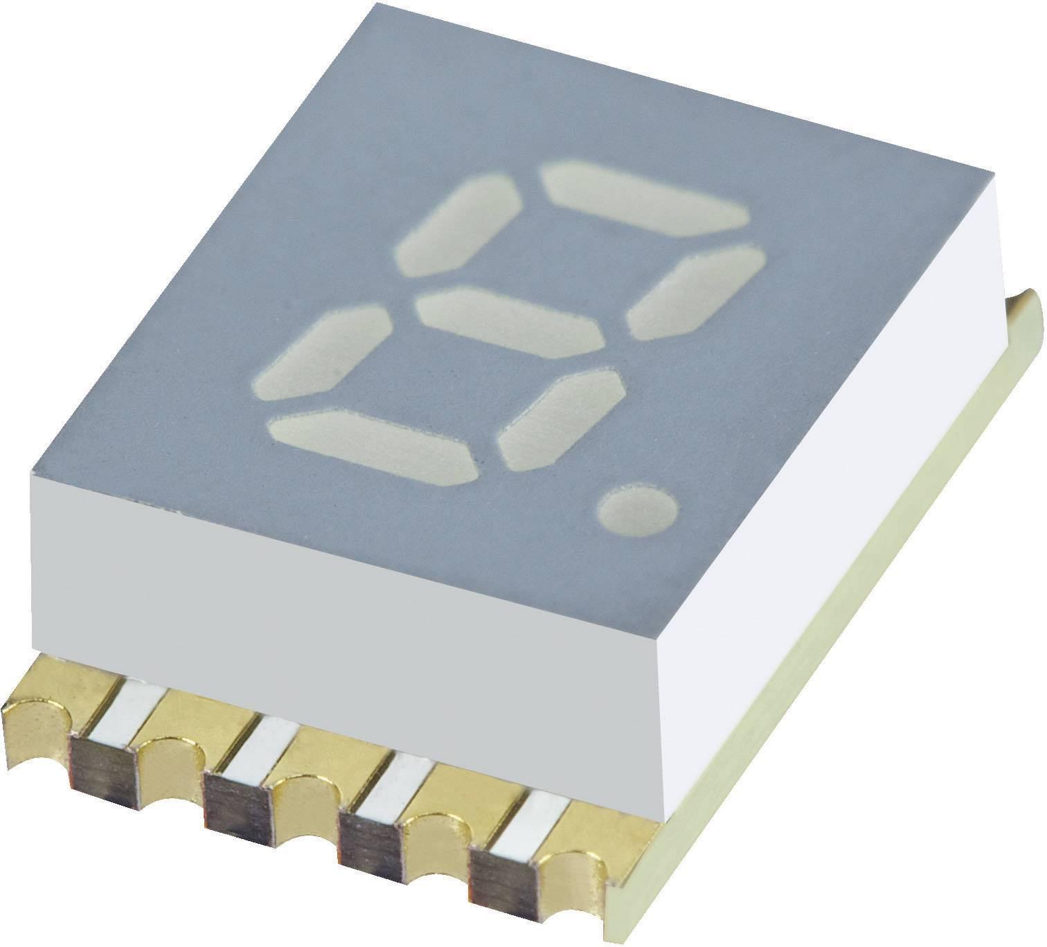 7-segmentový displej Kingbright KCSC02-107, číslic 1, 5.08 mm, 1.95 V, žltá