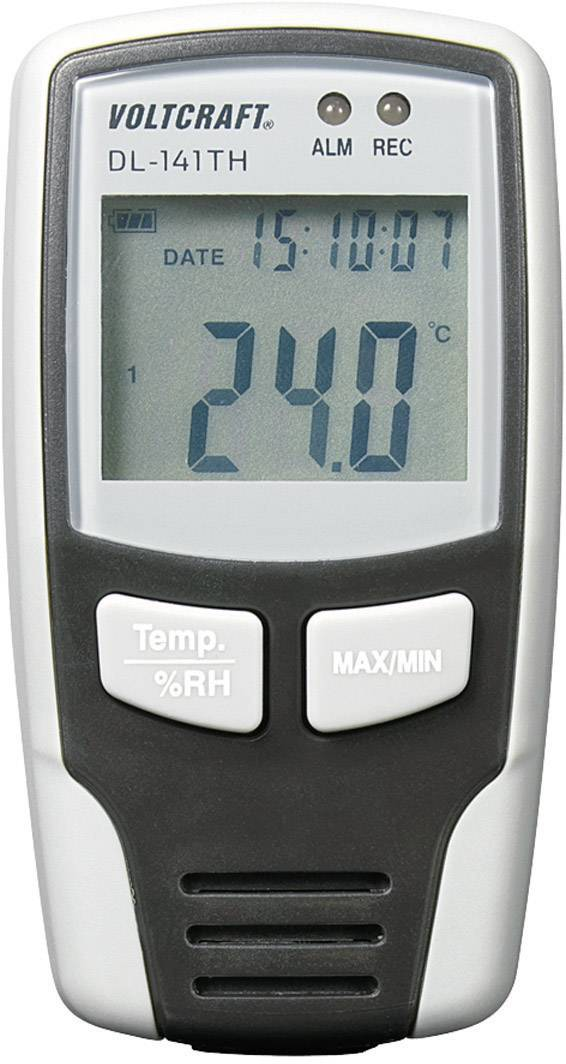 Teplotný/vlhkostný datalogger Voltcraft DL-141TH, -40 až +70 °C