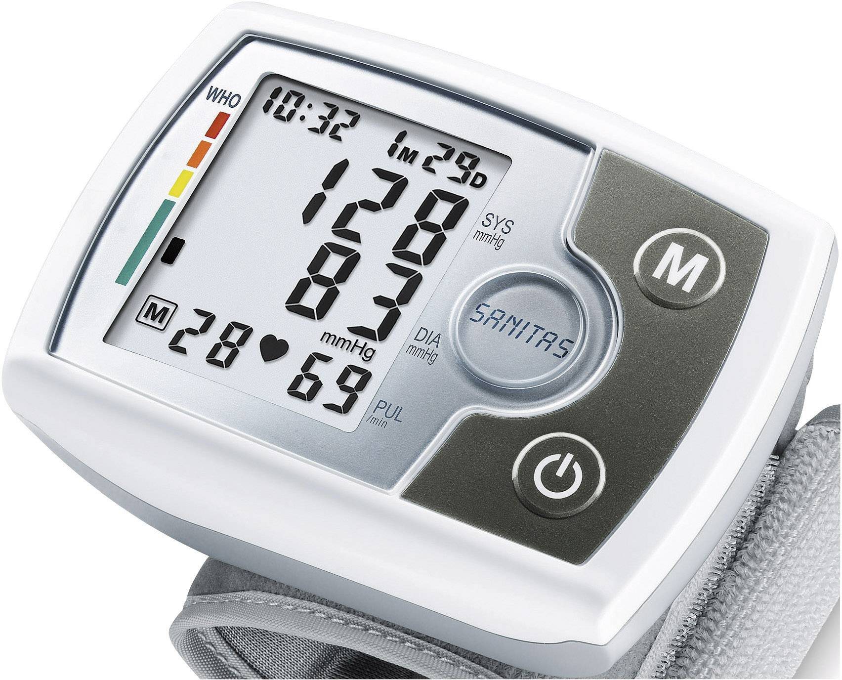 Zdravotnícky tlakomer na na zápästie Sanitas SBM03 651.21