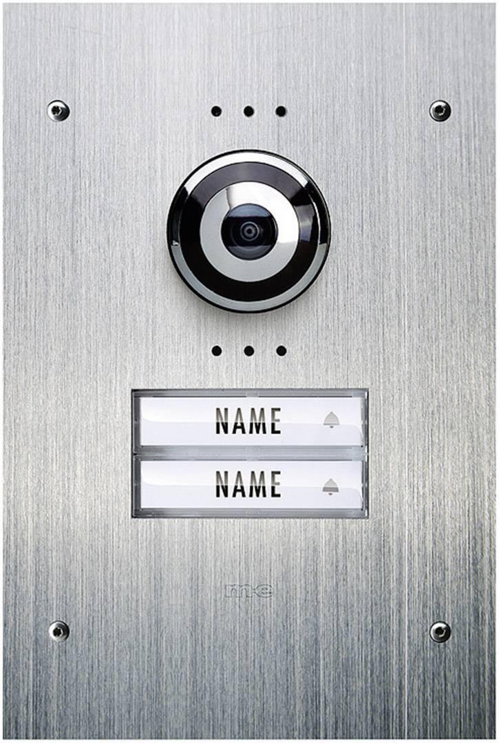 Káblový video dverový telefón m-e modern-electronics VDV 920, nerezová oceľ