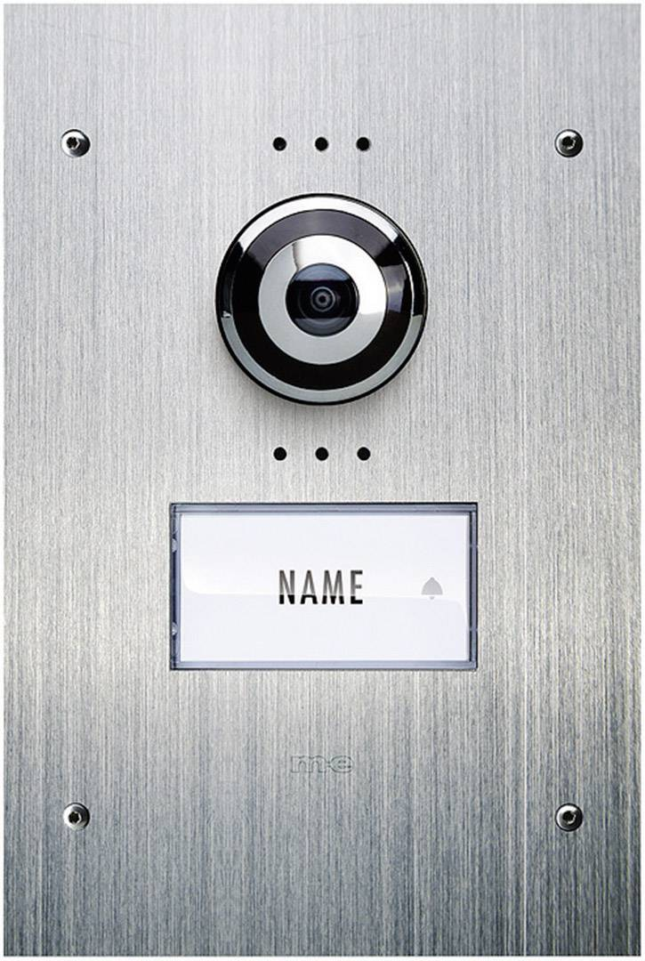 Káblový video dverový telefón m-e modern-electronics VDV 910, nerezová oceľ