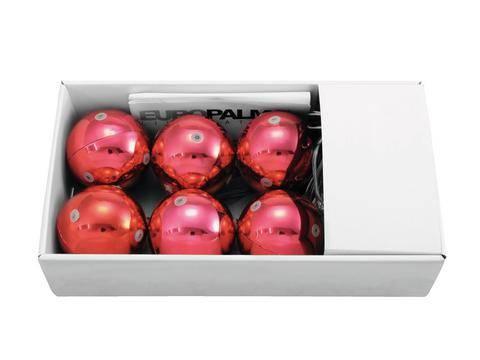 Vianočné gule LED dekoratívne osvetlenie teplá biela Europalms 83500911 červená