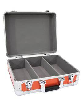 Kufr na CD, zakulacené rohy, hliník, červená