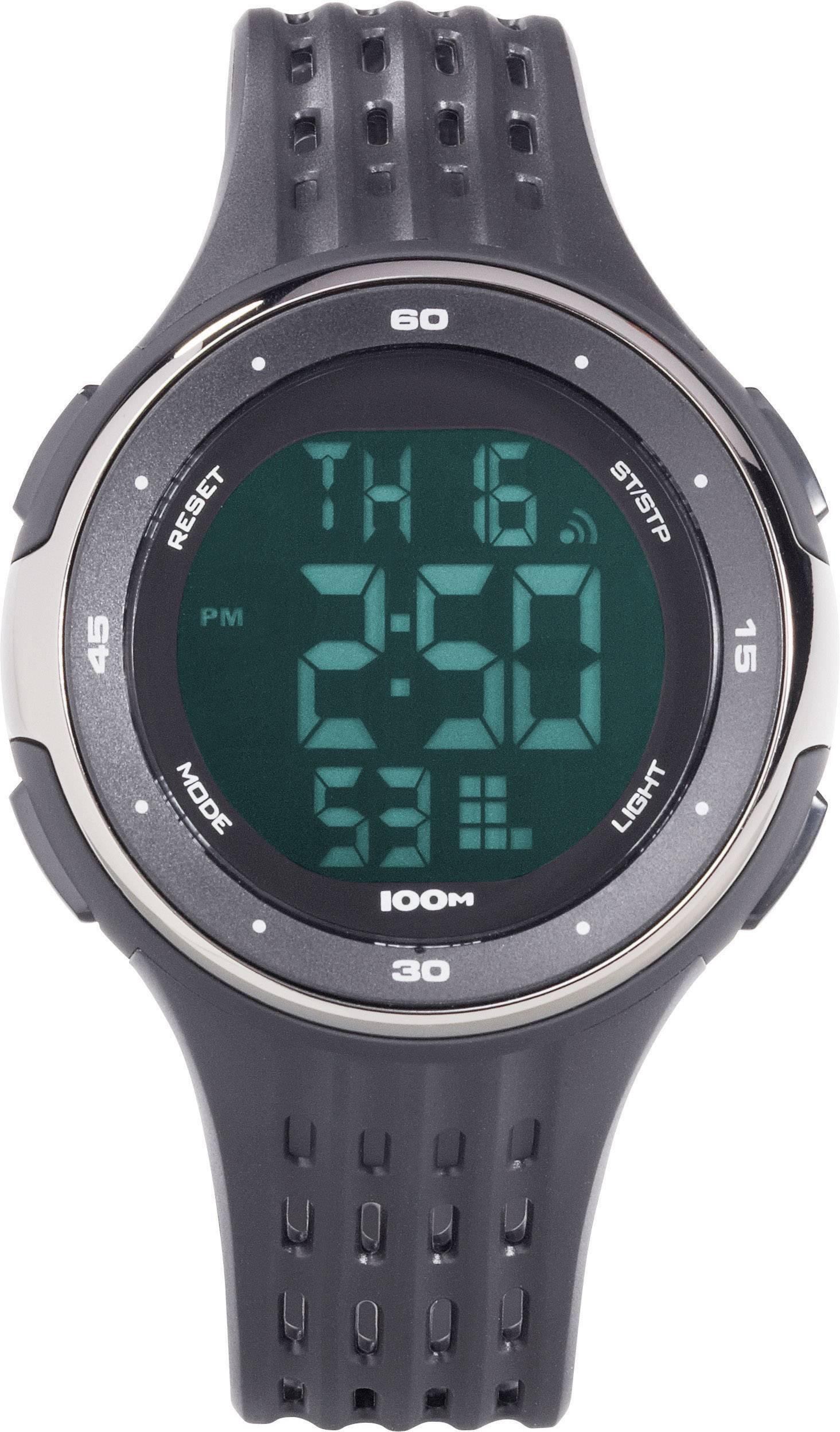 Náramkové hodinky Renkforce YP-11555-02, (Ø x v) 45 mm x 13 mm, čierna