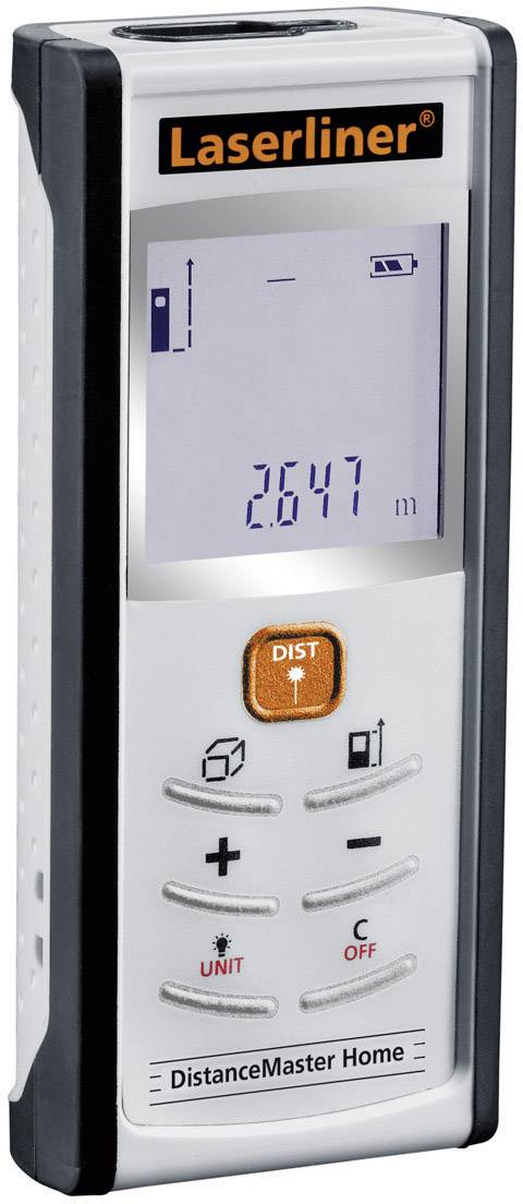 Laserový měřič vzdálenosti Laserliner DistanceMaster Home 080.949A, max. rozsah 25 m, kalibrace dle ISO
