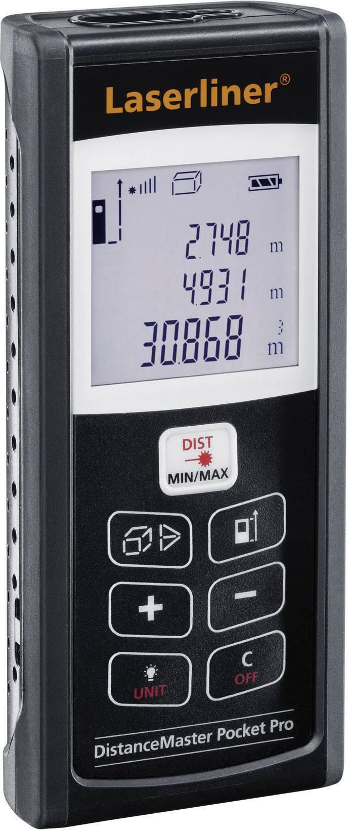 Laserový měřič vzdálenosti Laserliner DistanceMaster Pocket Pro 080.948A, max. rozsah 50 m, kalibrace dle ISO