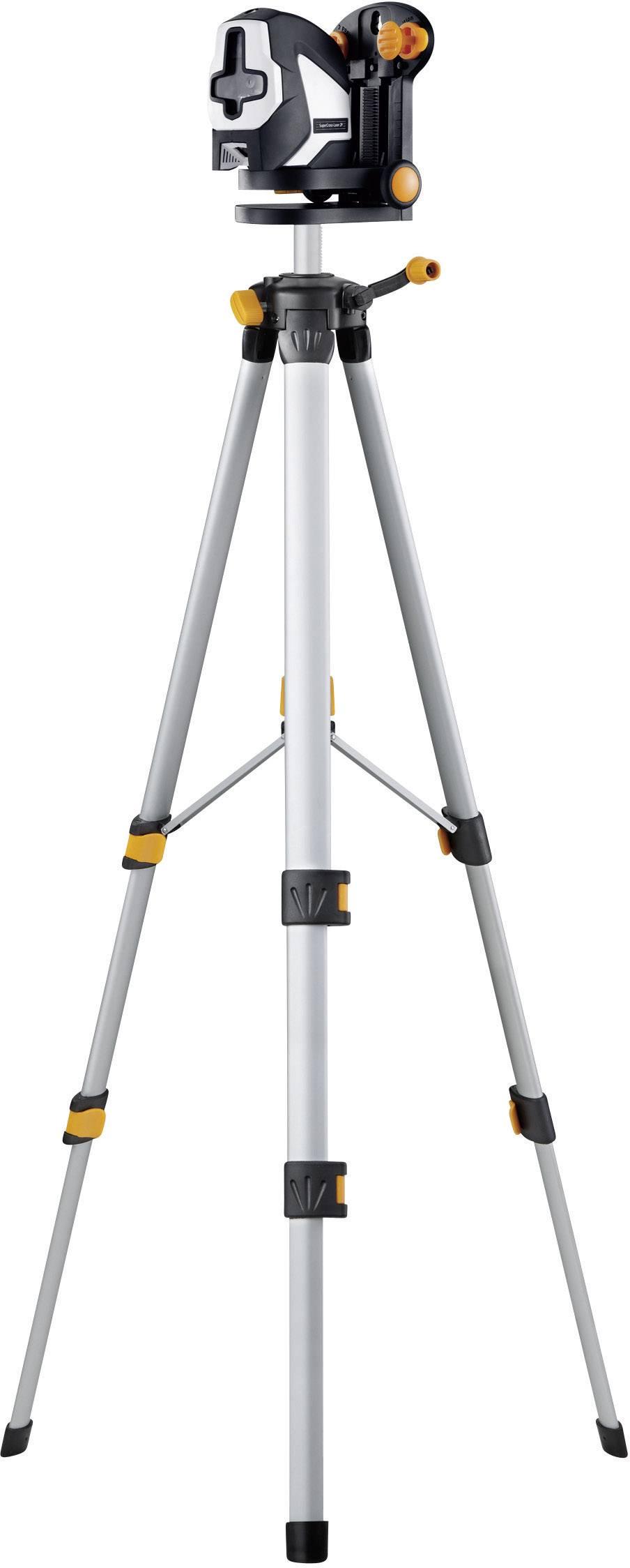 Křížový laser samonivelační, vč. stativu Laserliner SuperCross-Laser 2P RX Set 150, dosah (max.): 20 m, Kalibrováno dle: bez certifikátu