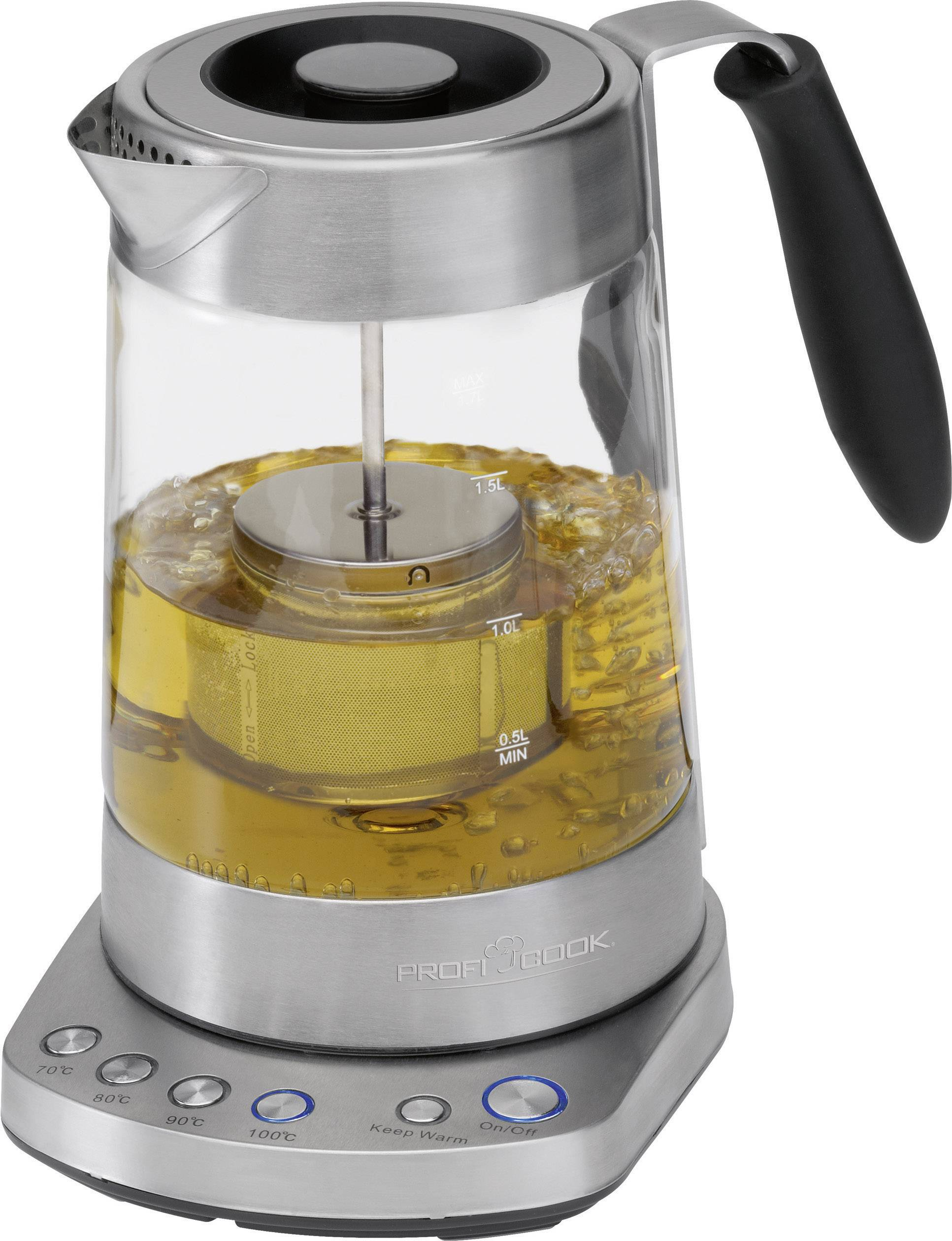 Rychlovarná konvice s čajovým sítkem a manuálním nastavením teploty Profi Cook PC-WKS